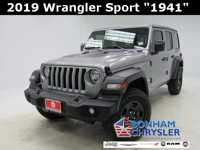 Jeep Wrangler Unlimited Sport >> New 2019 Jeep Wrangler Unlimited Sport Sport Utility In Bonham
